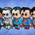 """SUPERMEN""  Available as  Magnet, Block or Print"